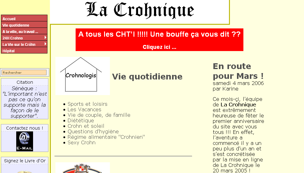 La Crohnique origine 2005